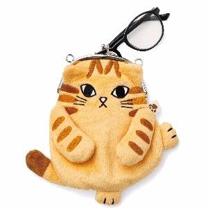 【Felissimo貓部】傲嬌貓咪軟軟肉球口金包-橘白虎斑貓