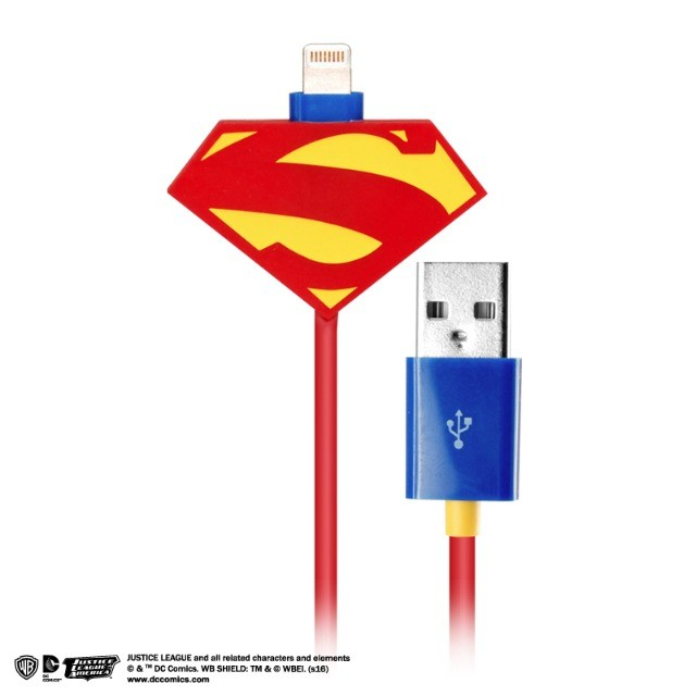 鋼鐵英雄-超人Lightning充電傳輸線