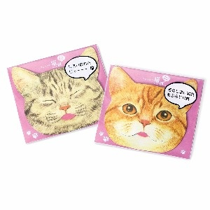 【Felissimo貓部】貓舌面油紙-灰黑虎斑+橘白虎斑貓